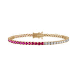 Ruby/Diamond Tennis Bracelet