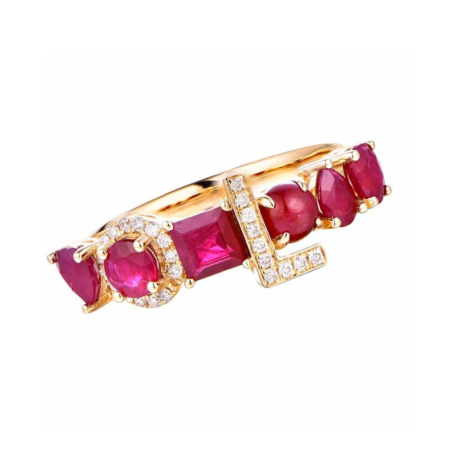 4MM Liami Bebe Custom Ring -  Precious Stones