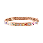 Multishape Multicolor and Diamonds Bangle