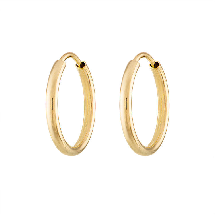 Small Thick Gold Hoops