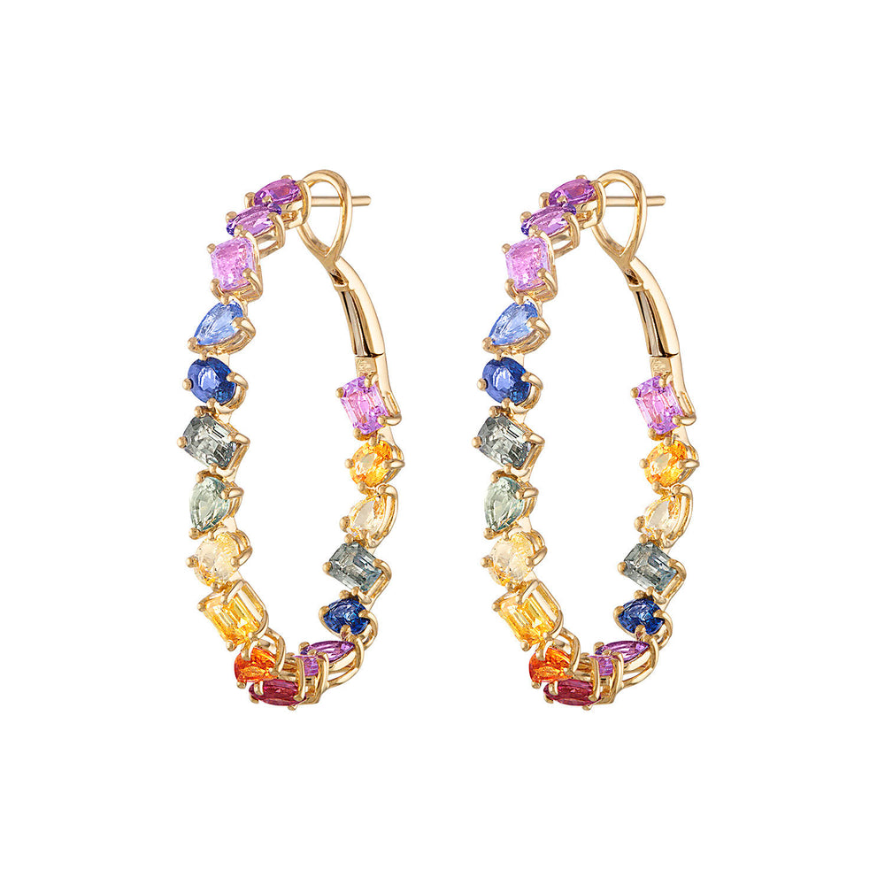 Multishape Multicolor Hoops