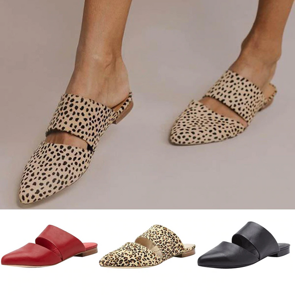 Fashion Point Toe Flat Slippers Women Sandals Lazy Slippers Casual Retro Mules Comfort - Center Of Treasures