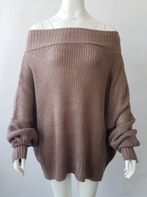 Batwing Sleeve Oversized Off The Shoulder Sweater Shirt Top Blouse Women Casual Loose Long Sleeve Soft Knitted Outwear Jumper - Center Of Treasures