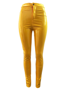 High Waist Stretch Leggings Pants Plus Size Pu Pencil Jegging Skinny - Center Of Treasures
