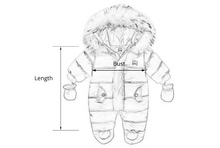 Winter Baby Clothes With Hooded Fur Newborn Warm Fleece Bunting Infant Snowsuit Toddler Girl Boy Snow Wear Outwear Coats - Center Of Treasures