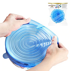 Zero-waste Reusable Food And Container Lids 6pcs Silicone Food Cover Stretch Wrap Bowl Pot Cover Stretchable - Center Of Treasures