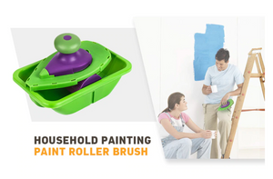Super Easy DIY Wall Painting 9pcs/set Decorative Paint Roller and Tray Set Paint Pad Pro Painting Roller Brush Point N Paint Household Wall Decoration Tool - Center Of Treasures
