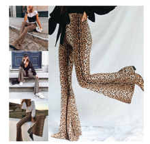 Leopard Print Flare Leggings Tiger High Waist Pants Autumn Winter Women Fashion Sexy Bodycon Trousers Club - Center Of Treasures