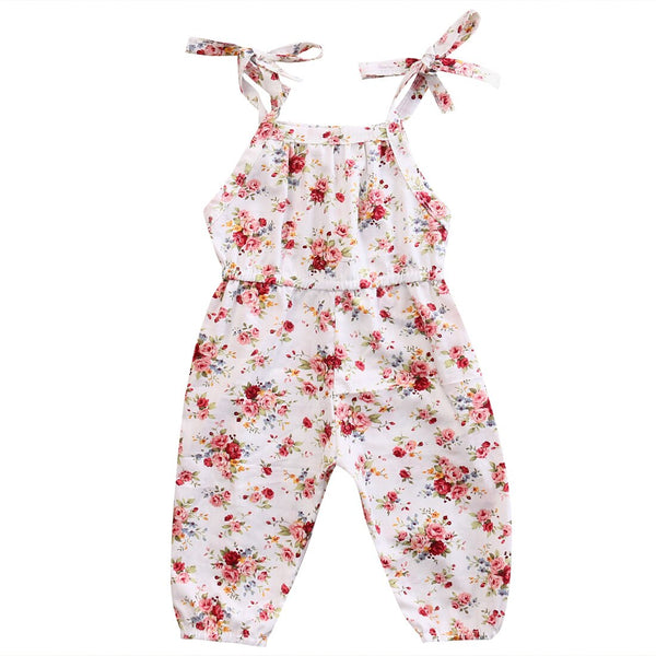 Infant Kids Girls Lovely Romper Clothes Jumpsuit Outfits Floral Strap Summer Sleeveless Sun suit Cotton