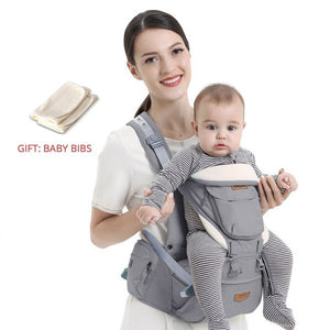 Ergonomic Baby Carrier Infant Baby Hipseat Waist Carrier Front Facing Ergonomic Kangaroo Sling for Baby Travel 0-36M - Center Of Treasures