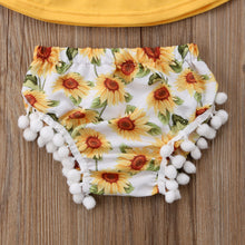 Summer Toddler Baby Girls Clothes Sets Off Shoulder Tops Shorts Flower Headband 3pcs Casual Cotton Girl 0-24M - Center Of Treasures