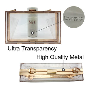 Clear Purse Transparent Crossbody Bag Lucite See Through Handbags Women Cute Acrylic Evening Stadium Approved - Center Of Treasures