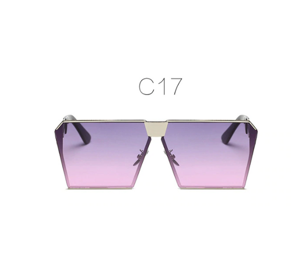 Women's Sunglasses Unique Oversize Shield 2019 Fashion Brand Designer Mirror Shades  Female Fashion Flat Top Glasses for Your Face Shape Vintage Trend 2018 Top 10 Gradient - Center Of Treasures