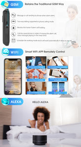 DIGOO DG-HAMA All Touch Screen Alexa Version 433MHz 2G&GSM&WIFI DIY Smart Home Security Alarm System Kits