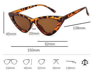 Women Fashion Sunglasses Cat Eye Shade  Vintage Retro Triangular Glasses - Center Of Treasures