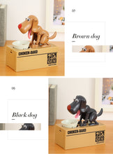Piggy Bank Dog Coin Box Money Boxes Eat Coins Money Safe Digital Box Desk Toy Ornament Gifts For Kids Doggy Coin Box - Center Of Treasures