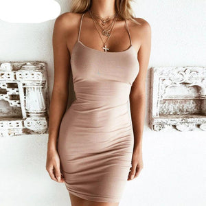Simple Formal Prom Dress Mini Bandage Dress Wedding Casual For Teens Elegant Sleeveless Bodycon Evening Dress - Center Of Treasures