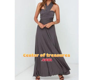 Long Dress Bridesmaids Boho Maxi Multiway Wrap Convertible - Center Of Treasures
