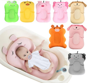 Baby Shower Portable Air Cushion Bed Babies Infant Baby Bath Pad Non-Slip Bathtub Mat NewBorn Safety Security Bath Seat Support - Center Of Treasures
