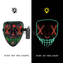 Halloween Mask LED Purge Light Up Party Masks Neon Glow In Dark Horror Maska Cosplay 21-COLOR OPTIONS ! - Center Of Treasures