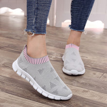 Women's Sneakers Plus Size Breathable Air Mesh Spring Summer Slip On Platform Knitting Flats Soft Walking Shoes Woman - Center Of Treasures