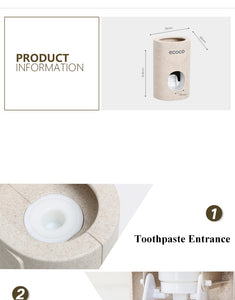 Automatic Toothpaste Dispenser Dust-proof Toothbrush Holder Wall Mount Stand Bathroom Accessories Set Toothpaste Squeezers Tooth - Center Of Treasures