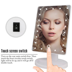 22 LED Lights Touch Screen Makeup Mirror Dropshipping Discounted Price 1X 10X Bright Adjustable USB Or Batteries Use 16 Lights - Center Of Treasures