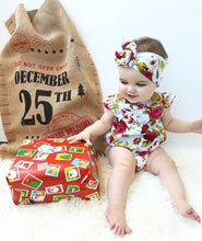 Baby Girls Infant Clothes Jumpsuit Romper+headband Floral 2pcs 0-24m Age - Center Of Treasures