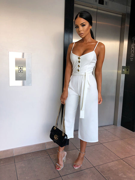 Backless Sexy Rompers Womens Jumpsuit 2019 Belt Elegant Bandage Plus Size Black White Jumpsuit Overalls Streetwear - Center Of Treasures