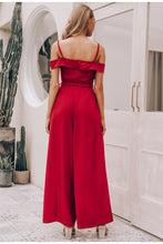 Sexy off shoulder women jumpsuit romper Elegant high waist red jumpsuit long Summer wide leg lady playsuit overalls 2019 - Center Of Treasures