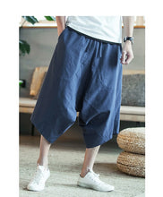 Men's Wild Crotch Harem Pants Summer Baggy Cotton Trousers Plus Size Wild-leg Loose Drawstring - Center Of Treasures