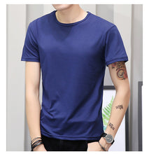 Korean Short Sleeve T Shirt Men O Neck Polyester Mens T Shirt Summer Cool Tee Male Slim Casual Boys Tee Shirt Homme 4XL - Center Of Treasures