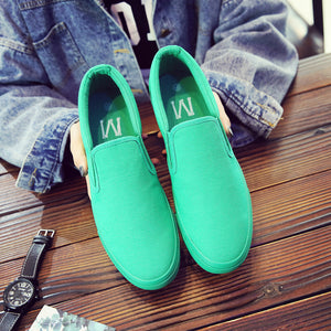 Women Men Casual Shoes Breathable Slip On Sneakers Loafer Flats Shallow Moccasins Comfortable Breathable - Center Of Treasures