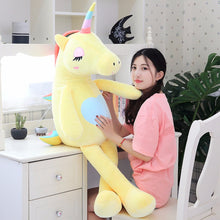 Large Soft Unicorn Stuffed Animals Plush toy Unicorn Animal Horse 60-140cm High Quality Cartoon Gift For Children - Center Of Treasures