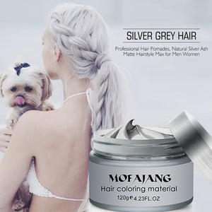 Hair Wax Color Styling Pomade  Temporary Hair Dye Disposable Fashion Molding Coloring Mud Cream Discounted Price - Center Of Treasures