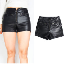 Women Leather Shorts Shorts Sexy Fashion Zip Plus Size Shorts High Waist Zipper Vintage Street Styles Punk - Center Of Treasures