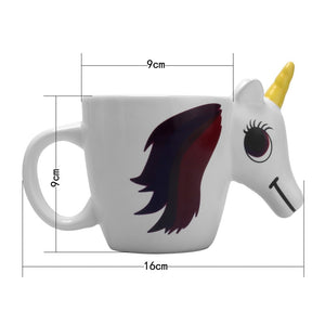 Unicorn Coffee Cup Color Changing Cartoon Mug 3d Ceramic Tea Milk Water Cup Creative Gift Magical Horse Cup - Center Of Treasures