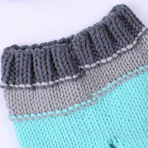 Newborn Baby Knit Pants Hat Set Photography Props Accessories Baby Photo Baby Growth Record  Christmas Prop - Center Of Treasures