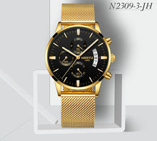 Business Watch Men Luxury Military Quartz Wristwatch Relojes Para Hombre Deportivos Nibosi Stainless Steel Famous Dress Male Clock High Quality - Center Of Treasures