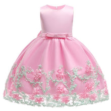 Girls Dresses Flower Cake Tutu Kids Clothing Elegant Hand Beading For Children Princess Party - Center Of Treasures