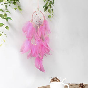 Lighting Dream Catcher Hanging Diy 20 Led Lamp Feather Crafts Wind Chimes Girl Bedroom Romantic Hanging Decoration Gift - Center Of Treasures