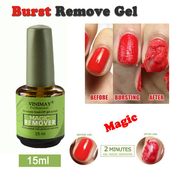 Magic Nail Polish Remover Burst Magic Remove UV Gel Nail Polish Soak off Nail Art Primer Acrylic Clean Degreaser For Nail Lacquer - Center Of Treasures
