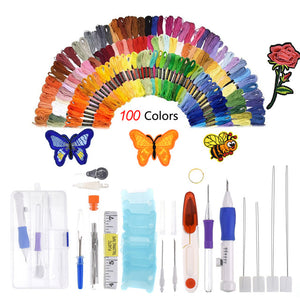 Diy Rainbow Color Embroidery Threading Tool Stitch Sewing - Center Of Treasures