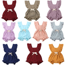 Newborn Infant Children Clothes Romper Jumpsuit Outfits Sunsuit Ruffle Baby Girl Solid Kid Clothing - Center Of Treasures