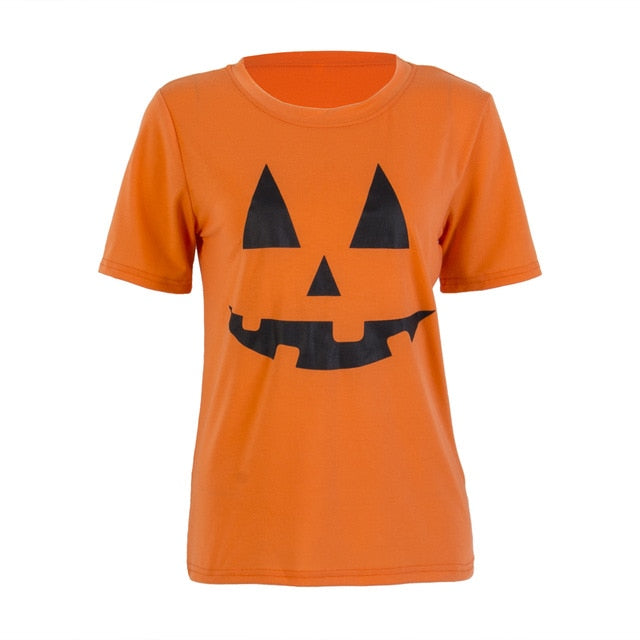 Halloween Family Matching Outfits Mother Kids Baby Pumpkin T Shirt Sweatshirt Cotton Clothes Orange - Center Of Treasures