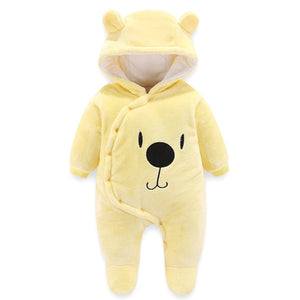 Infant Girls Baby Boys Overcoat Bear Hooded Cotton Kids Clothing Coat Cloak Jacket Thick Warm Clothes - Center Of Treasures