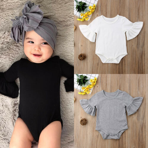 Newborns Infant Girls Cotton Ruffled Romper Short Sleeve Clothing  Autumn Cute Design Dress Girl Outfit Collection Sizes 0-24m - Center Of Treasures