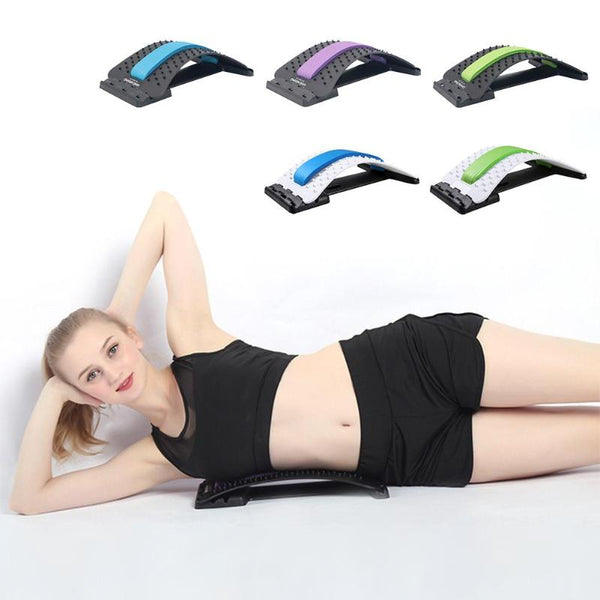 Back Massage Stretcher Stretching Device Waist Neck Relax Mate Pain Relief Chiropractic Lumbar Support Yoga Fitness Equipment - Center Of Treasures