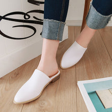 Women Casual Low Heels Sandals Brand Designer Summer Mules Shoes Rounded Toe Slippers Woman Flip Flops Plus Size 48 2019 New Sexy Shallow Slippers - Center Of Treasures