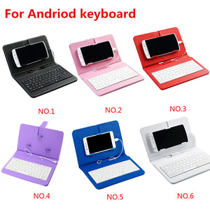 Mini android Mobile Phone Bluetooth Keyboard Portable Pu Leather Case Wireless Protective - Center Of Treasures